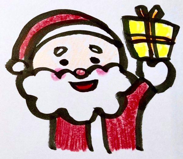 もうすぐクリスマス サンタさんの簡単かわいいイラスト マステデコ紹介 すごはん たのしごと
