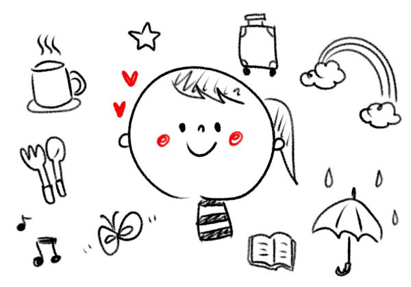 手帳に描きたい ボールペン一本で簡単に描けるかわいいイラスト すごはん たのしごと
